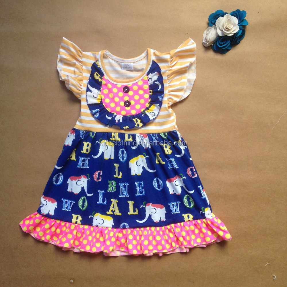 High Quality Girls Icing Ruffle Dresses Lovely Baby Frock Design ...