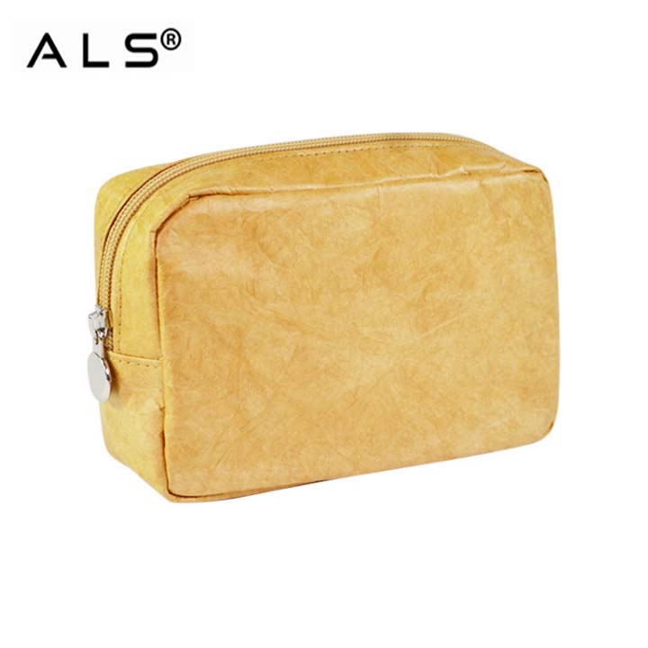 China brand customize factory tyvek cosmetic pouch travel promotional cosmetic paper bag paper pouch custom cosmetic bag