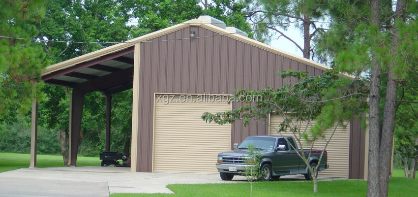Hot Selling Portable Prefabricated Steel Car Garage Shed Carport