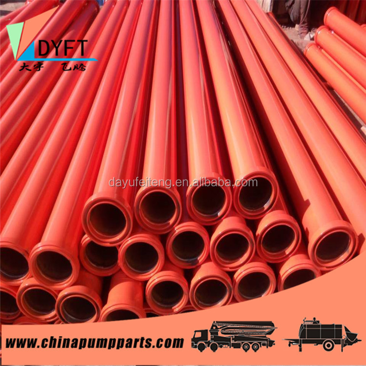 Good quality DN125 concrete pump delivery DN125 concrete pump delivery pipe and Spare Parts for Concrete Pump Truck and trailer