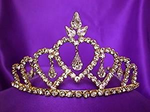 Gold Princess Crystal Tiara