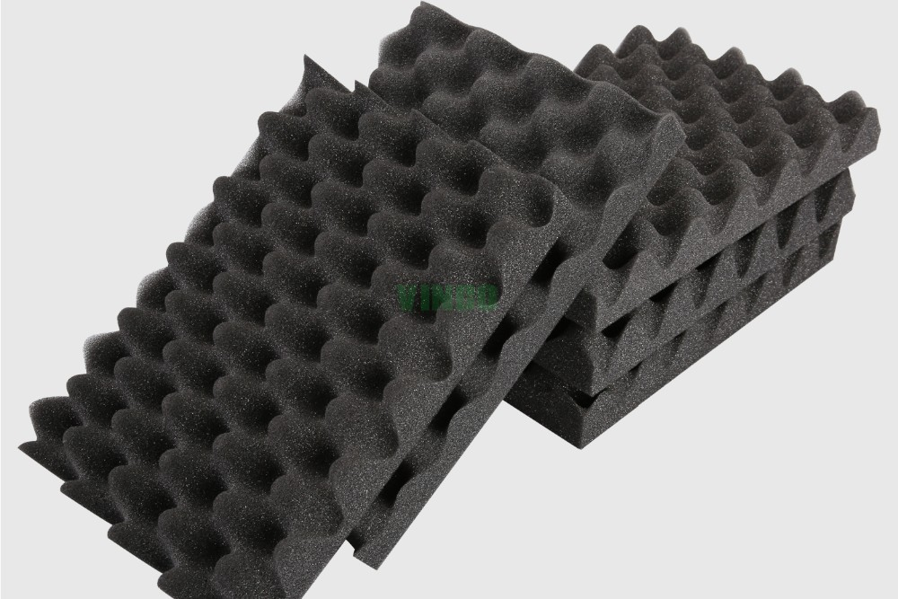 50mm Waves Sound Absorbing Sponge Foam For Piano Room