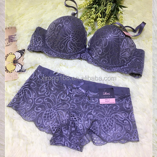 lace net push up hot ladies penti and bra