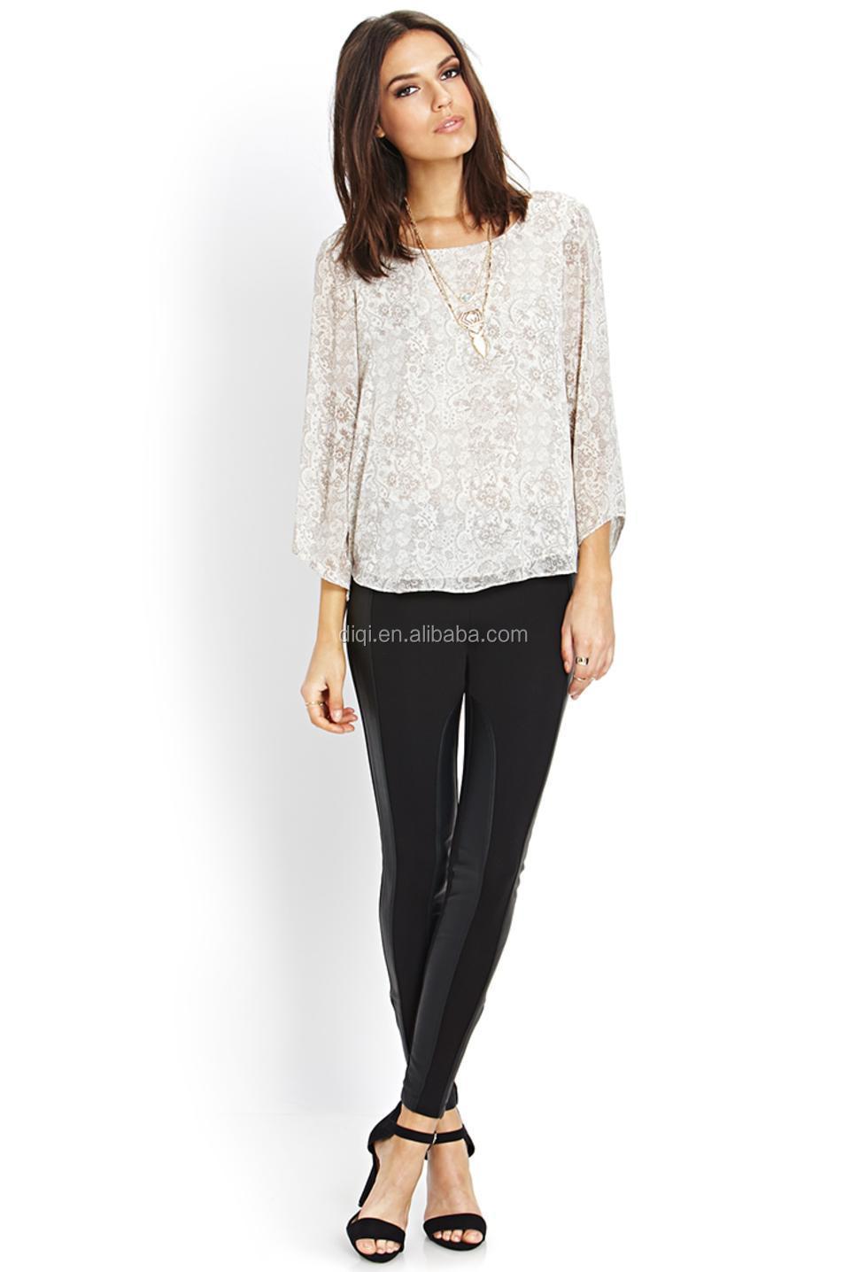American Plus Size 2015 Summer Style Women Chiffon Blouse Shirt ...