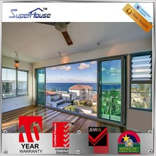 Superhouse Australian standard AS2047 double glass aluminium frame door