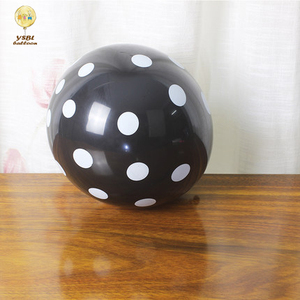 Wholesale Alibaba Hot Sell 12inch Black Color 100% Latex Free Round Shape Latex Polka Dot Balloon For Wedding Party Decorations