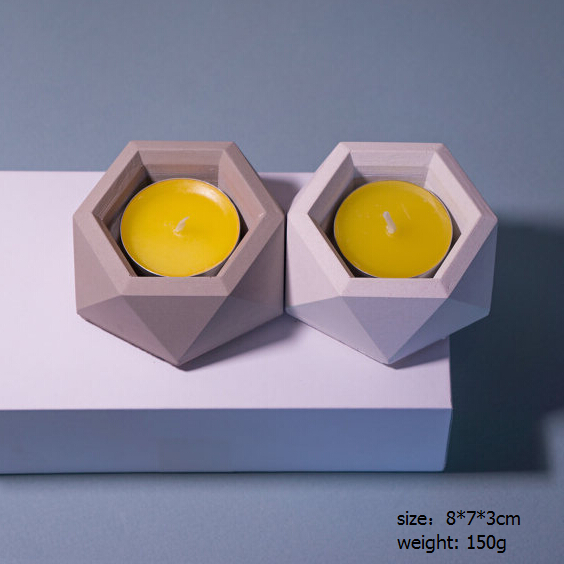 Single Handmade Concrete Tealight Candle Holder