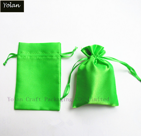 Custom printed satin drawstring shoe bag