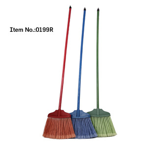 HQ0199R household cleaning tools strong outdoor plastic garden broom
