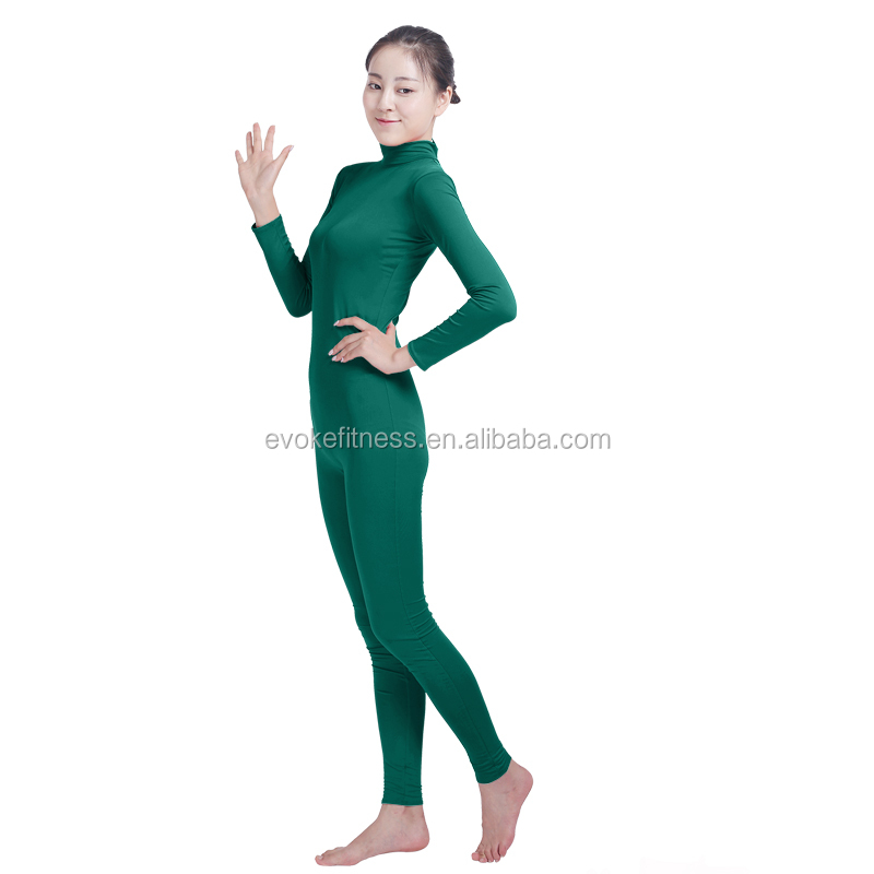 Turquoise Boat Neck Adult Full Body Without Hand/Feet Ballet Unitard/Dance Costume/ Gymnastics Leotard/Cosplay Wear