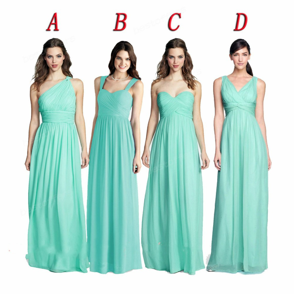 Cheap mint green bridesmaid find mint green bridesmaid deals on get quotations dab3029 mix style bridesmaid dress pleatsruched a line chiffon summer mint green bridesmaid dress ombrellifo Images