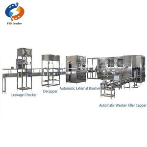 Turnkey project automatic 3 or 5 gallon water filling line