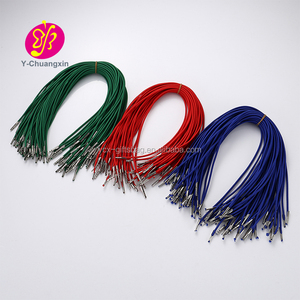 Custom 2.5mm elastic cord with metal end tips