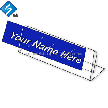 mini sign display holder price card tag label stand acrylic price