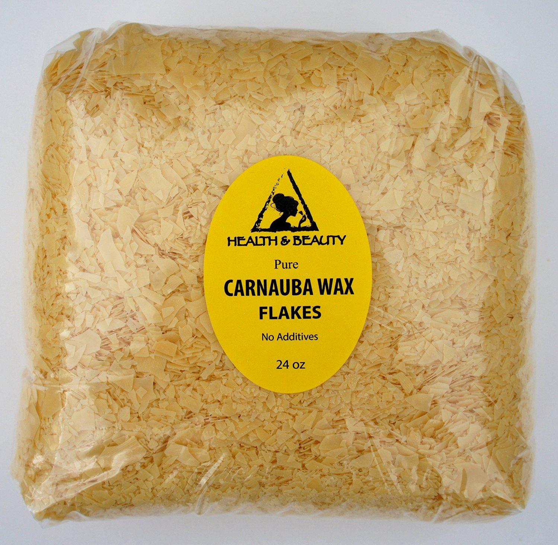 Carnauba Wax Organic Flakes Brazil Pastilles Beards Premium Prime Grade A 100% Pure 24 oz