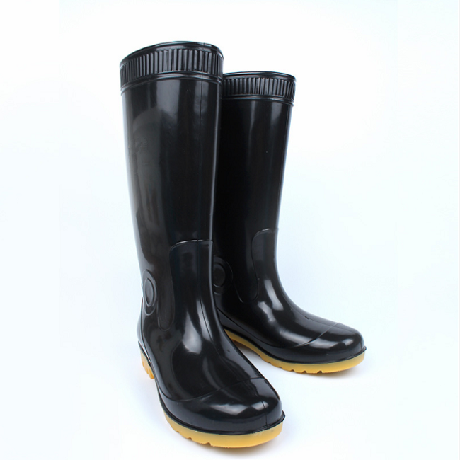 black PVC Water Rainboots / Working Rubber Shoes / Safety Rain boots