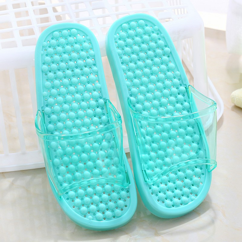 Beixiduo bathroom lovers home plastic funky slippers massage pvc light slipper sandals custom slides