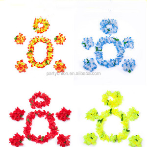 Hawaii Flower Lei 6pcs Party Decoration Summer Themed Party