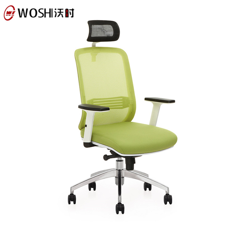 Fresh Adjustable Armrest Swivel Mesh Back Wooden Office Chair For Staff / Loft Chair Office
