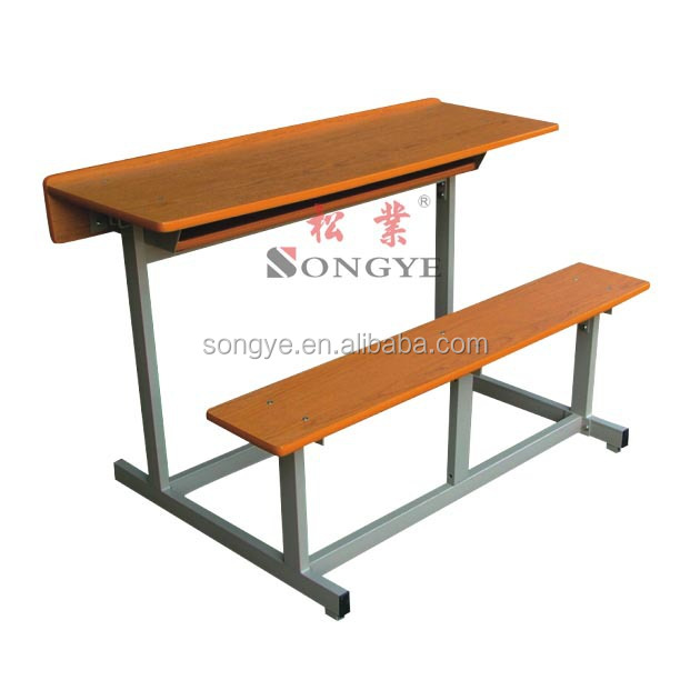 (Furntiure)Double school table and chair ,Student two seaters and desk , school furniture for India Tender