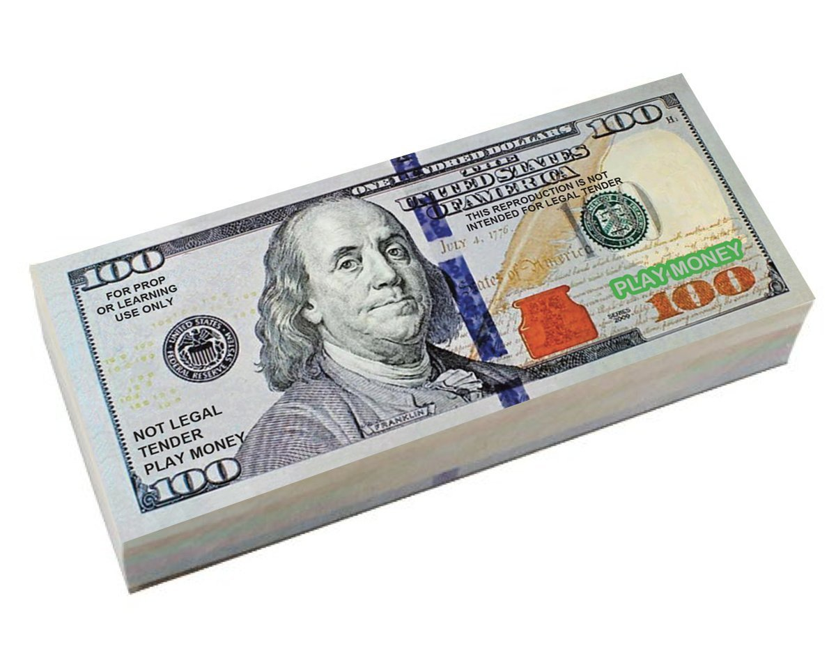 SUMMER SPECIAL !! ONE WEEK ONLY!! 50% OFF!! Best Real Looking Play Money, Real Size & Real Color Double Sided Bills, Economic Pack: Total of 30 Bills of $1, $5, $10, $20, $50, & $100 ,