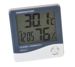 Indoor Room LCD Electronic Temperature Humidity Meter Digital Thermometer Hygrometer Weather Station Alarm Clock