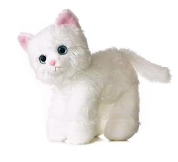 Plush Toy White Cat Animated Soft Cat Plush Toy Gift Buy Plush Toy