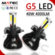 G5 G6 LED Headlight 80w 96w LED Headlamp Bulb H4 H7 H11 H13 HB3 9007 9008 Car LED Headlight G5