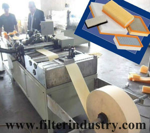 Car Panel Filter Pleating & Gluing---air filter making machine