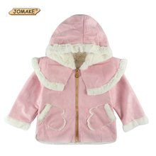 New Children Outerwear Cotton Winter Hooded Coats Glove Pocket Girl Jacket Kids Coat Children Girls Clothing Thick Down & Parkas