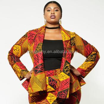 High Fashion Plus Size African Women Clothing Waist Belt Wax Print Blazer,  View women fashion, Shenbolen Product Details from Dongguan City Hongyu ...