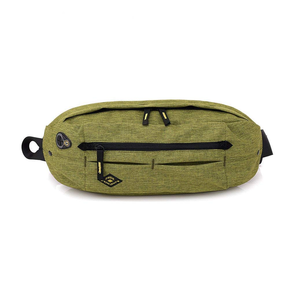 MIYA LTD Waterproof Chest Bag Sling Waist Bag,Anti-theft Messenger Bag Lightweight Crossbody Sports Running Pocket with Earphone Hole Fashion Chest Pack-Green