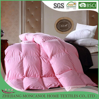Luxurious Full/Queen Size Pink Down Alternative Duvet Insert Comforter