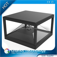 HD 3D holographic display, hologram advertising 3d pyramid, hologram projector showcase, entertainment,exhibition,store.