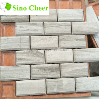 Standard Size Of Brick Grey Wooden Marble Mosaic Tile Home Depot