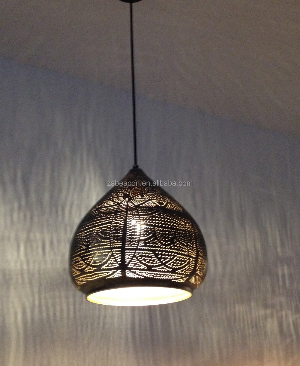 Hanging Light Fittings Wholesale: 2016 Hot Sale New Design Moroccan Lighting Bronze Iron