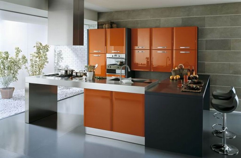 High Gloss Kitchen Cabinets Color Combination Cabinet: High Gloss Lacquer Kitchen Cabinet Doors With Modular