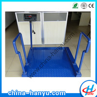 HY-3301 cheap china 300kg electronic wheelchair scale for hospital wheelchair non folding
