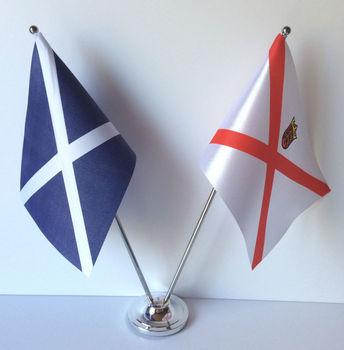 Custom Mini Office Table Flag With Indoor Flagpole
