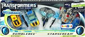 Transformers 3 Dark of the Moon Movie Exclusive Cyberverse Evolution Legion Class Action Figure 4Pack Bumblebee vs. Starscream