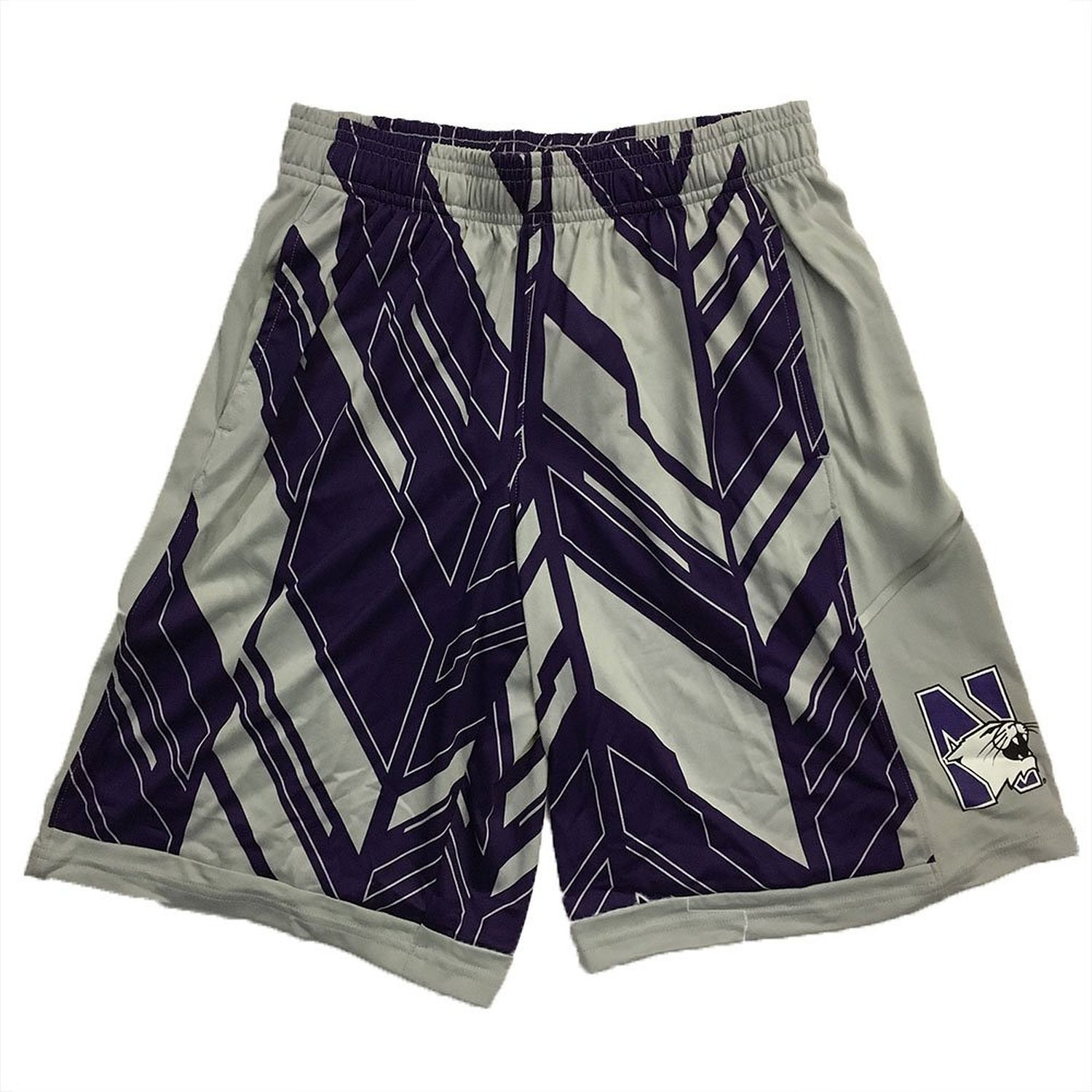 Get Quotations · Northwestern Wildcats Under Armour Youth Gray Foundation  Shorts 95a65bc4f