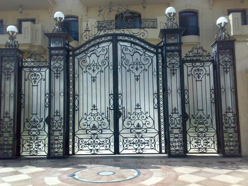 Art stica decorativa de calzada de hierro forjado de metal - Puertas de hierro para jardin ...