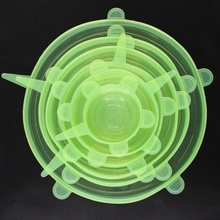 LFGB Eco-friendly Stocked Feature cup cover food safe stretch Fresh fruit Bowl Silicone Lids