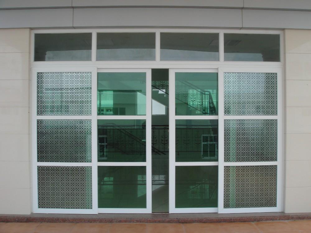 UPVC Sliding Door For Balcony Double Glass Aluminium Sliding Door In  Guangzhou