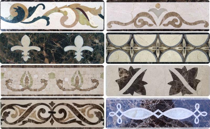 Italian Marble Flooring Border DesignFactory Direct Sale