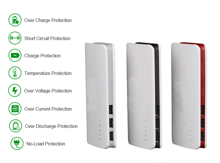 2018 logo personalizzato powerbank 3 mini usb ricaricabile della banca di potere esterno con la luce del flash per i dispositivi digitali