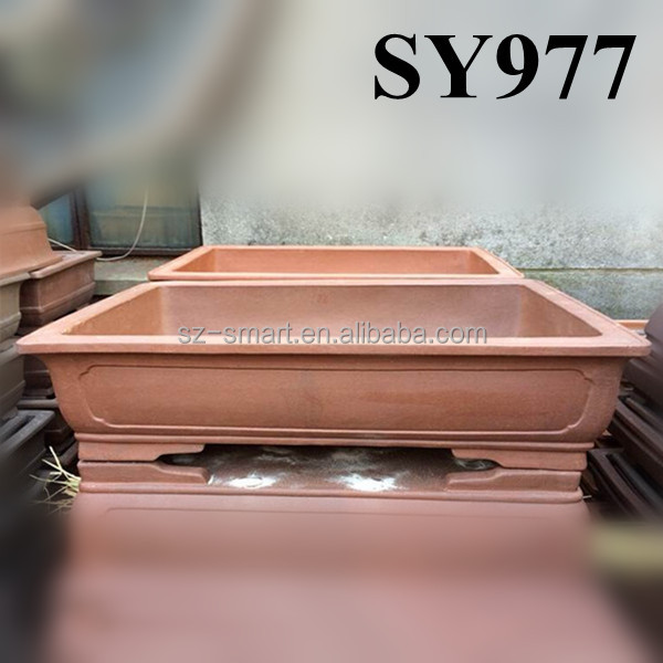 Hot sale rectangular bonsai pots yixing