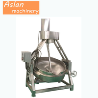 electric planet mixer/Steam heating sauce maker/jacketed kettle with agitator