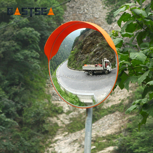 Good Quality Stainless Steel Frame Unbreakable Convex Traffic Safety Mirror