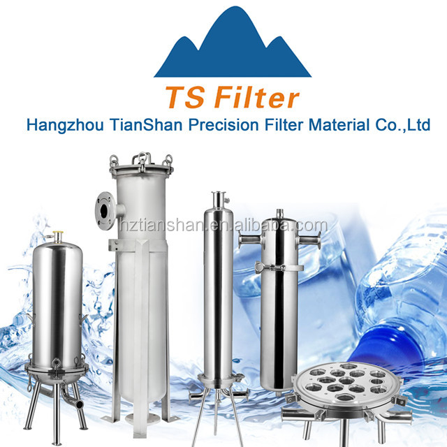 Liquid cartridge filter housing machinery for drinking water and mineral water